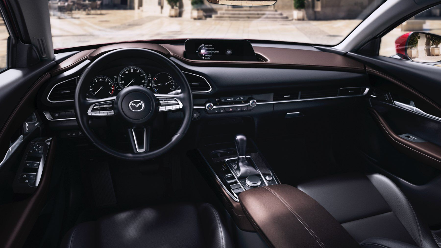 front interior of the 2021 Mazda CX-30
