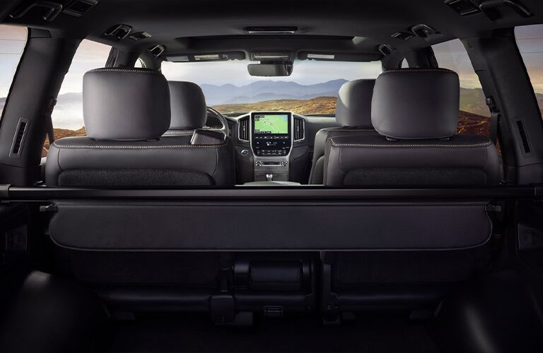 view of the 2021 Toyota Land Cruiser from the back seat