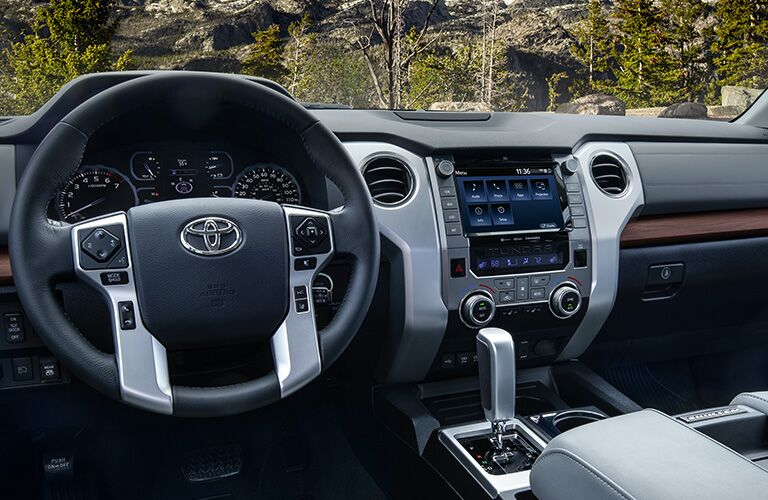 Front dash of the 2020 Toyota Tundra