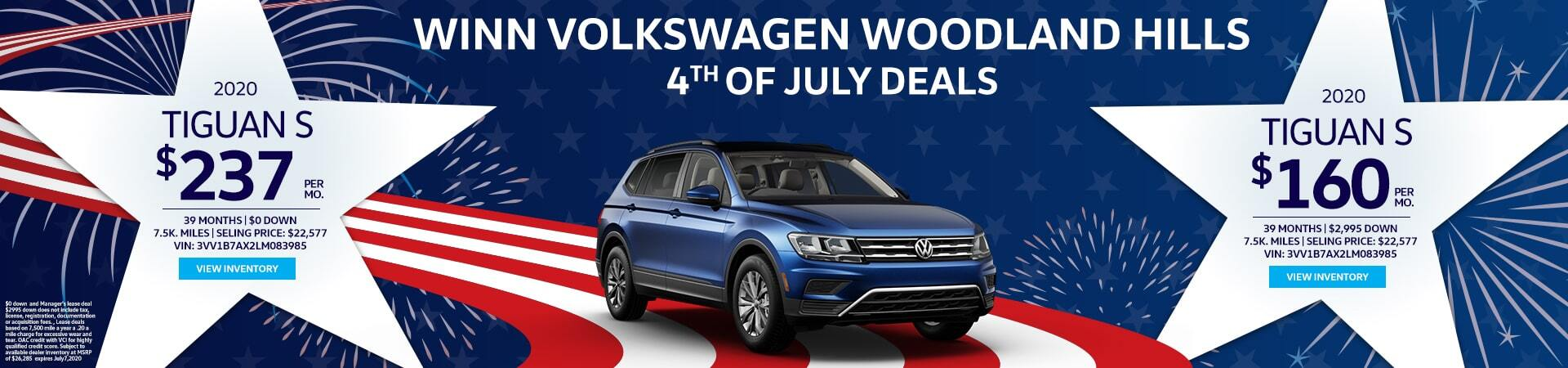 4th of July Tiguan Lease deals