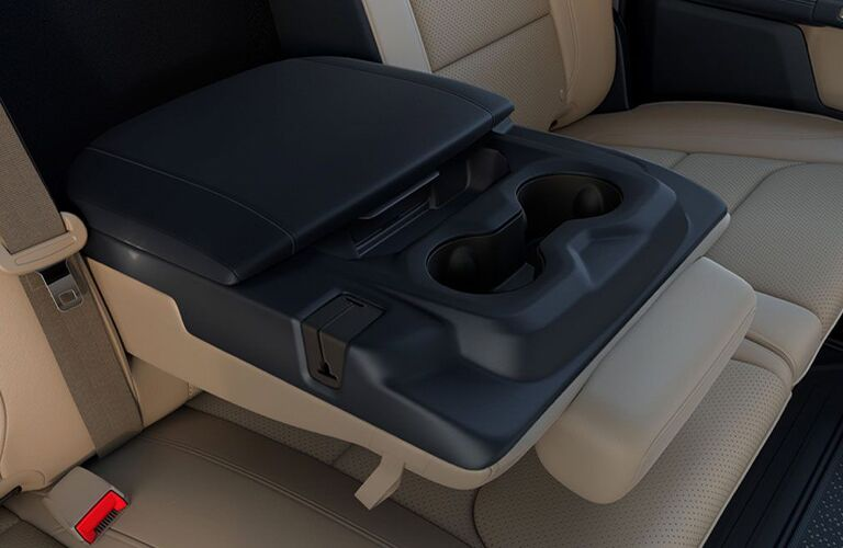 Fold-down cup holders in 2020 Ram 1500