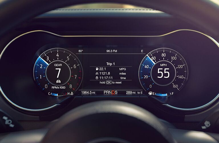 Driver Information Display inside 2019 Ford Mustang