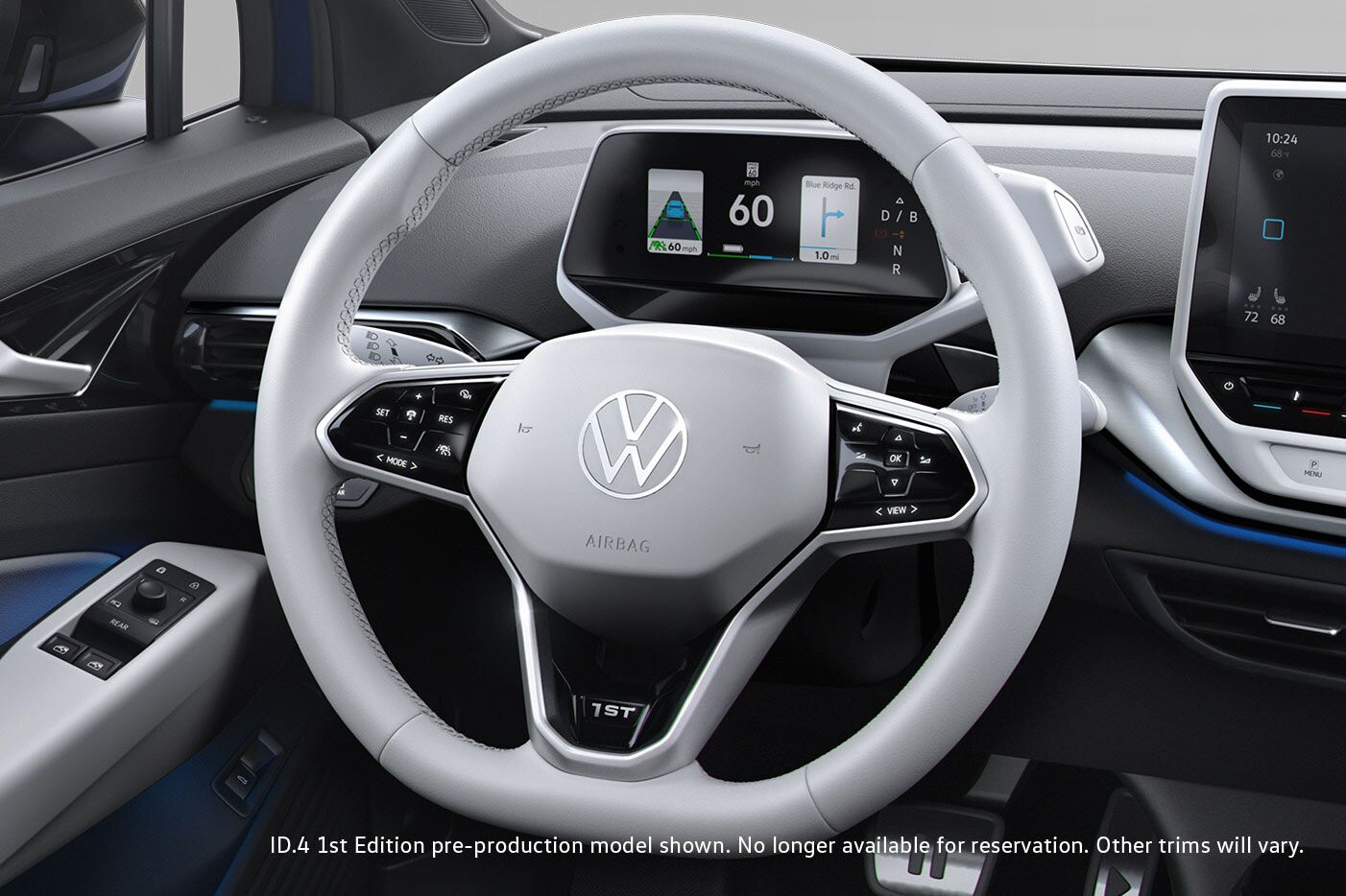 Steering wheel of Volkswagen ID.4