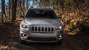 Jeep Cherokee in the forest