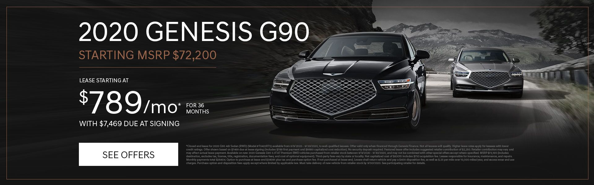 2020 G90 Lease