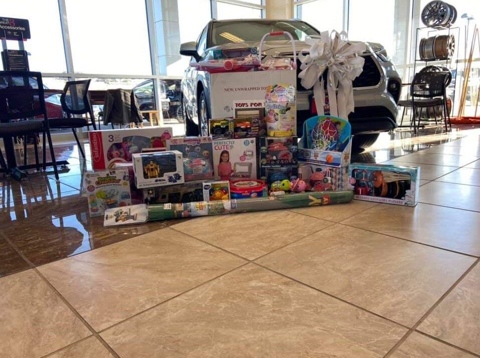 toys for tots display angle 2 at Phil Meador