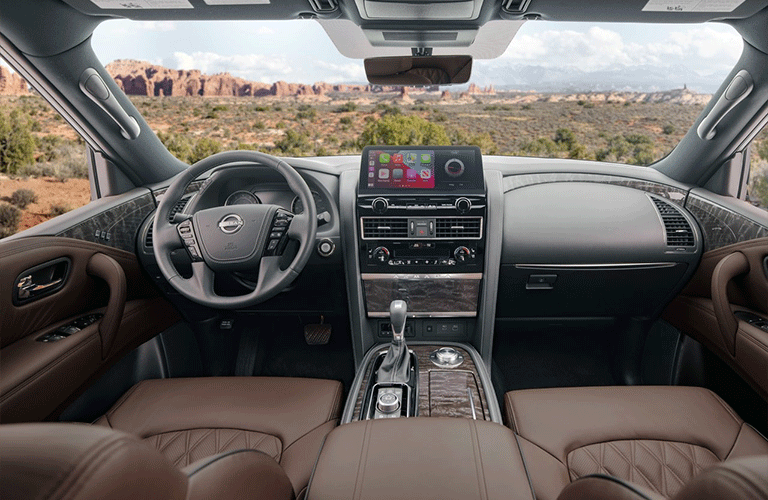 Interior front row of the 2021 Nissan Armada