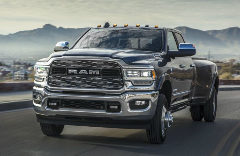 Front view of grey 2020 Ram 3500