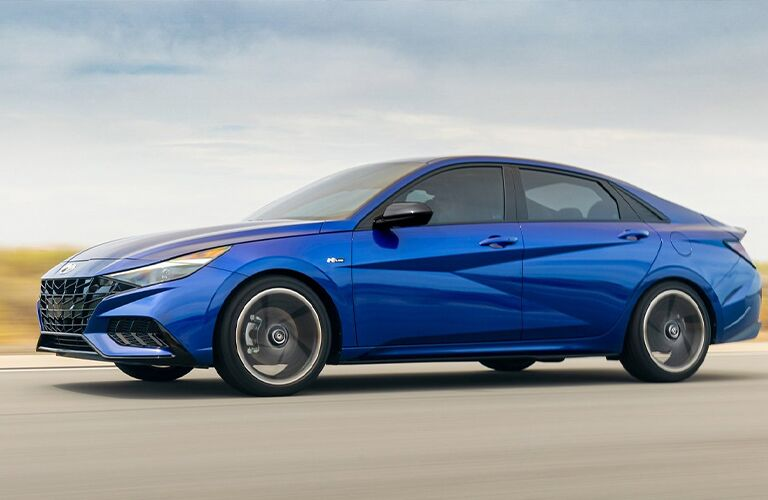 2021 Hyundai Elantra going down the road