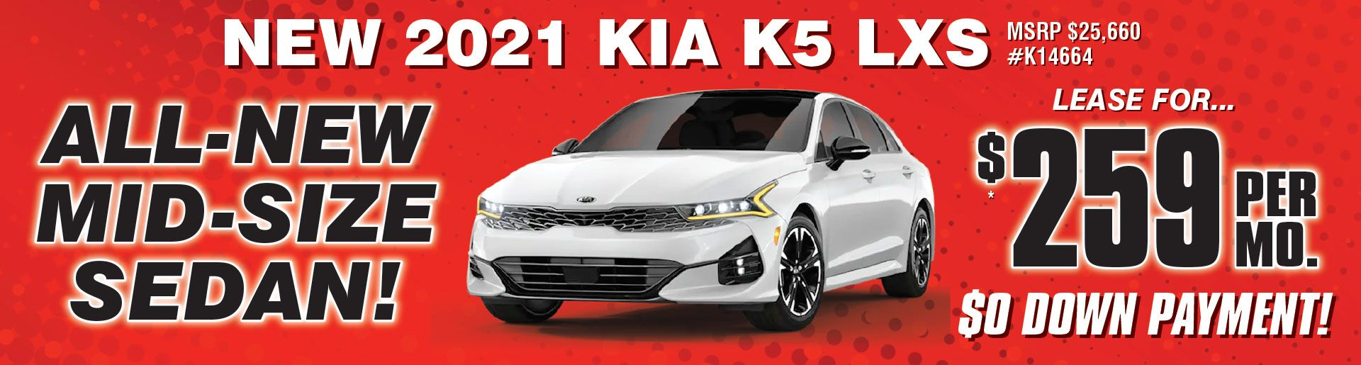2021 KIA K5 Sept Lease
