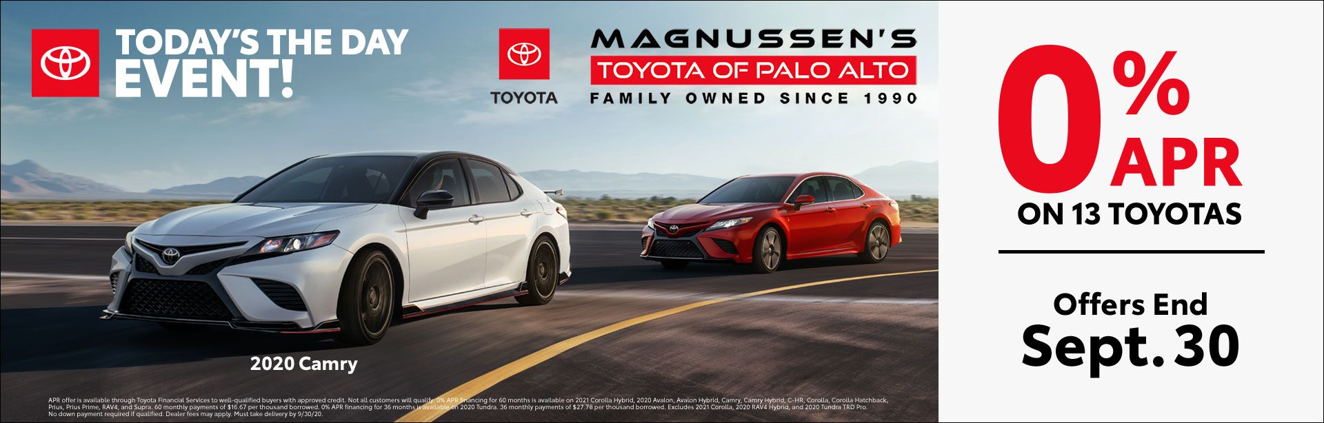 Toyota 0% APR Financing Deals
