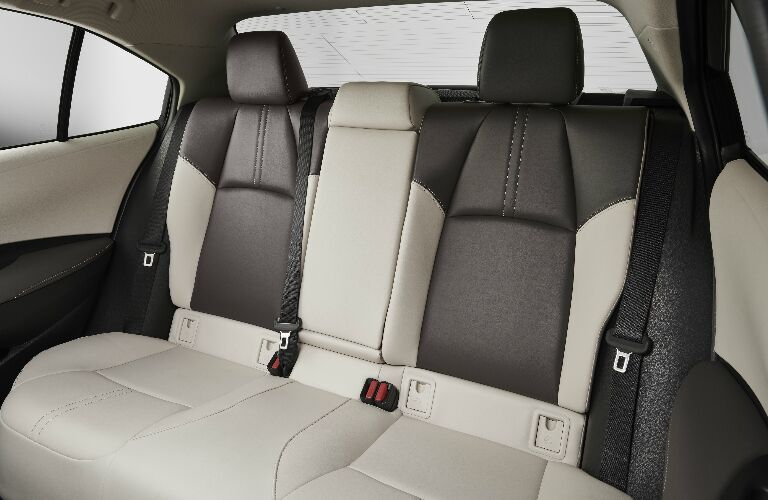 White and grey rear seats in 2020 Toyota Corolla