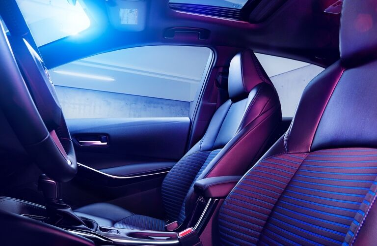 front seats of the 2020 Toyota Corolla