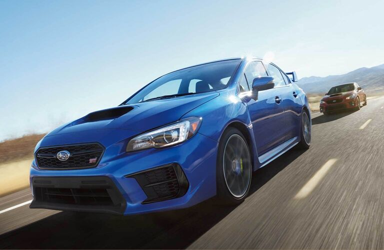 2020 Subaru WRX going down the road