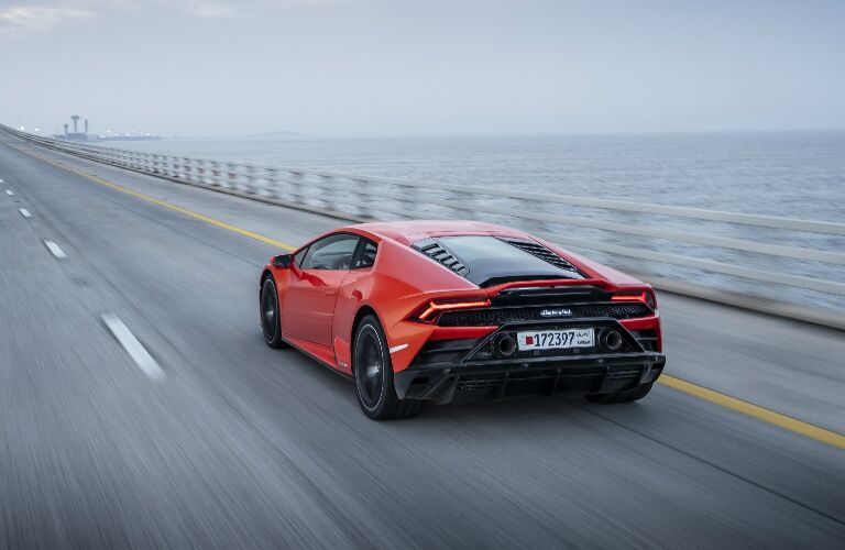 2020 Lamborghini Huracan EVO in orange