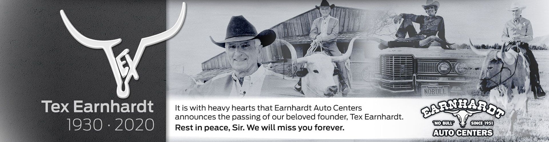Passing of Tex Earnhardt
