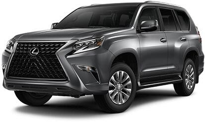 Exterior of the Lexus GX 460 shown in Nebula Gray Pearl.