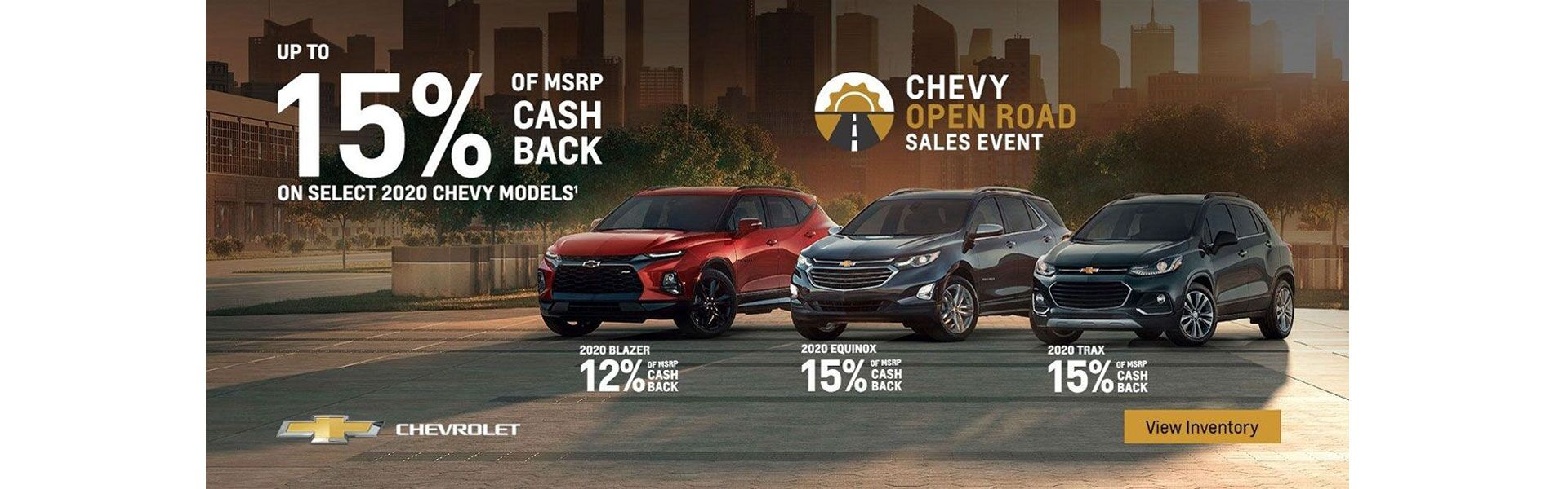 Chevy 15% off Summer