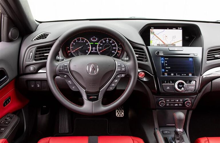 2020 Acura ILX steering wheel and dashboard view