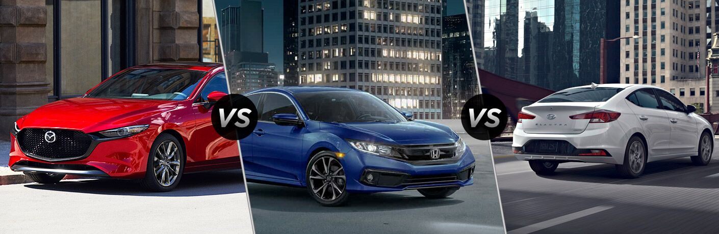 Mazda3 Vs Hyundai Elantra >> 2019 Mazda3 Vs 2019 Honda Civic Vs 2019 Hyundai Elantra