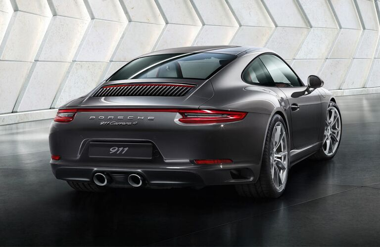 rear view of 2019 Porsche 911 Carrera