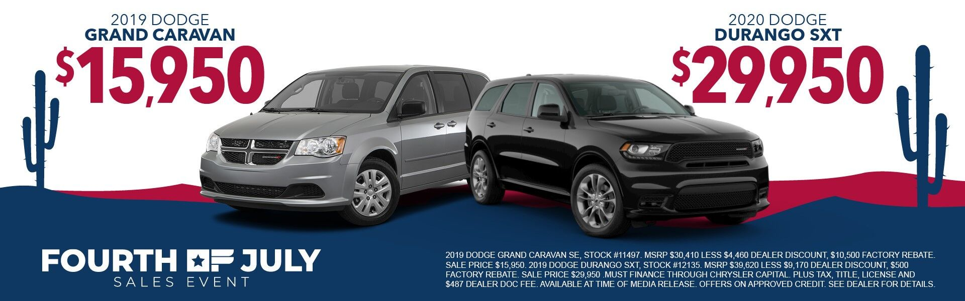 19 Dodge Grand Caravan and Durango
