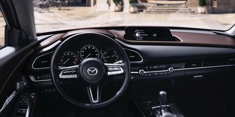 Dashboard of Mazda vehicle