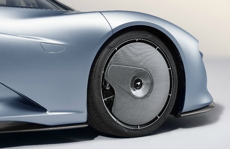 Wheel of light blue 2020 McLaren Speedtail