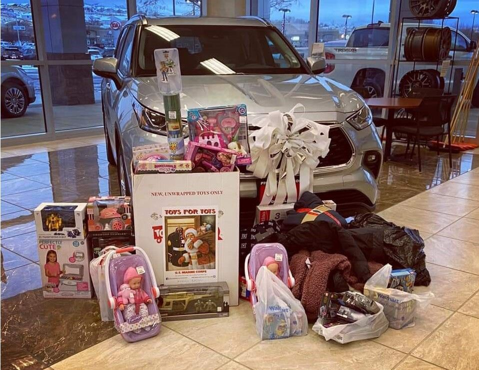 toys for tots display at Phil Meador