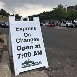 Express Oil Change at Durango Motor Company