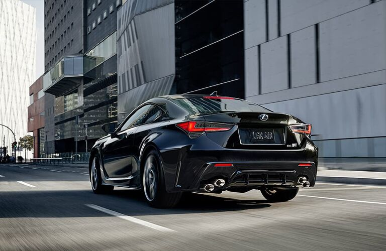 black 2020 Lexus RC rear view