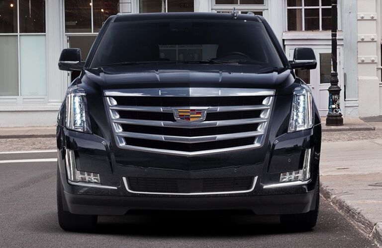 front of black 2019 Cadillac Escalade