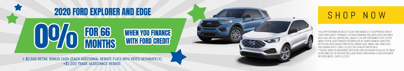 2020 Ford Explorer and Edge