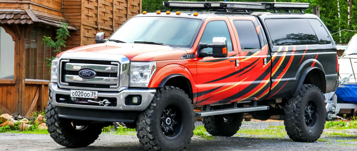 Customized Ford Truck Featuring a Lift Kit