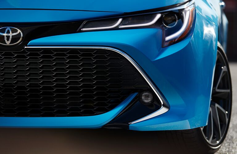 close up view of the 2021 Toyota Corolla Hatchback
