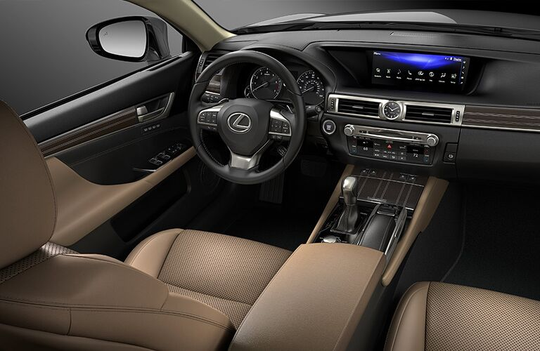 Interior front dash of 2020 Lexus GS