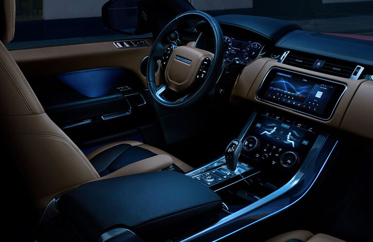 front interior of  2019 Land Rover Range Rover Sport