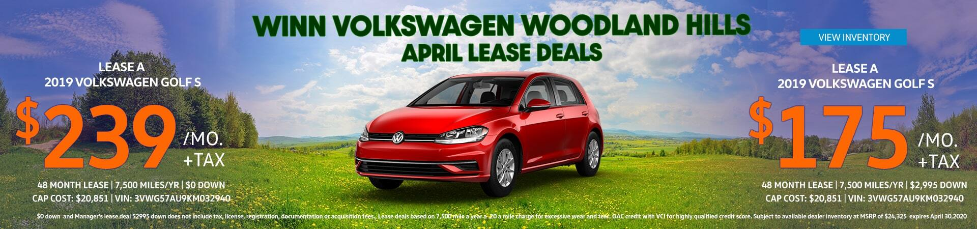 April Golf Lease Offer
