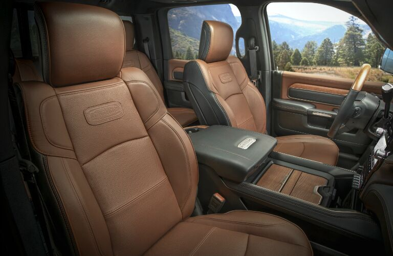 Brown front seats in 2020 Ram 2500