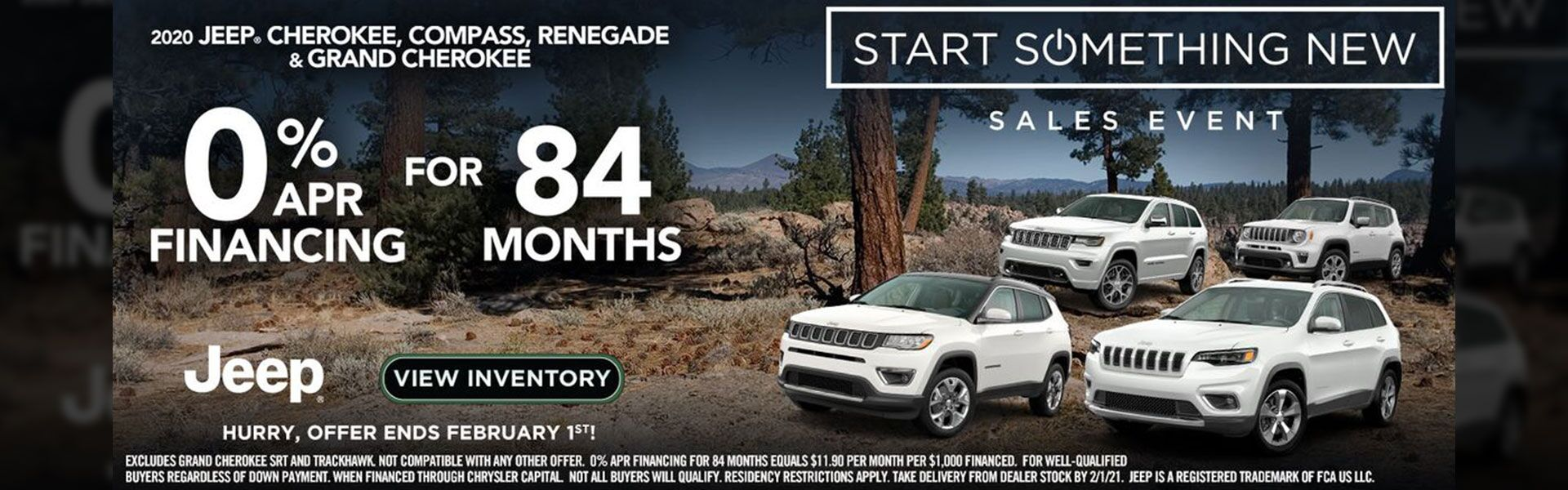 0% for 84 Mo - 2020 Jeep Models