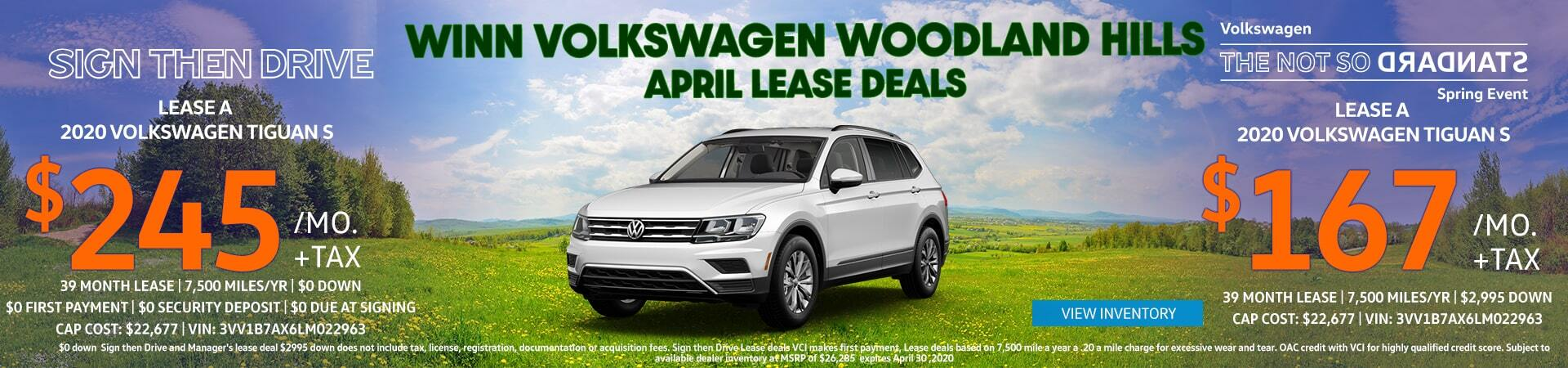 April Tiguan Lease Offer