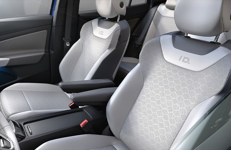 The front interior inside the 2021 Volkswagen ID.4.