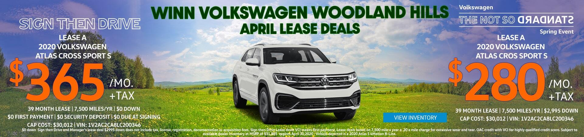 April Cross Sport Lease Offer
