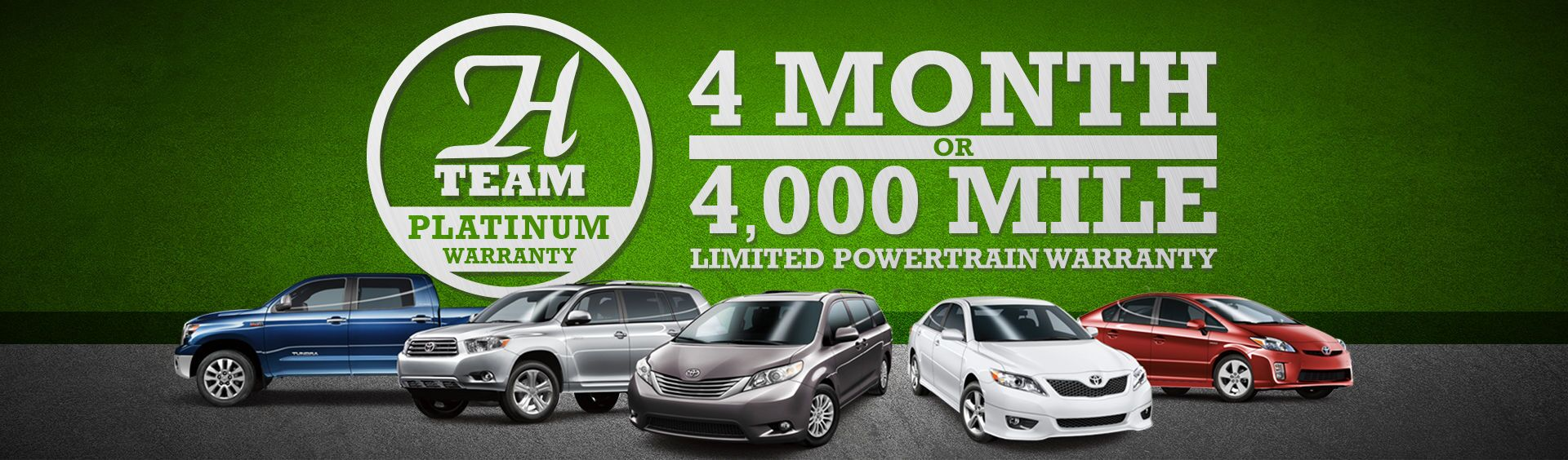 H-Team Platinum Warranty at Heritage Toyota
