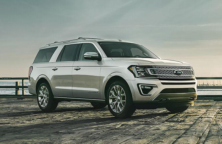 2019 Ford Expedition parked on beachfront