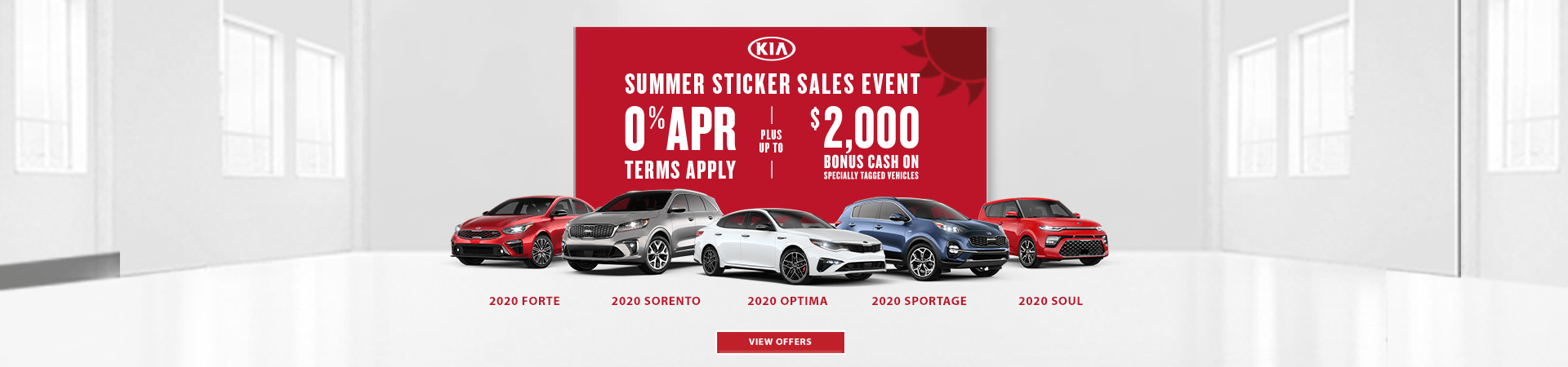 Kia Summer Sticker Sales Event Offer 202035