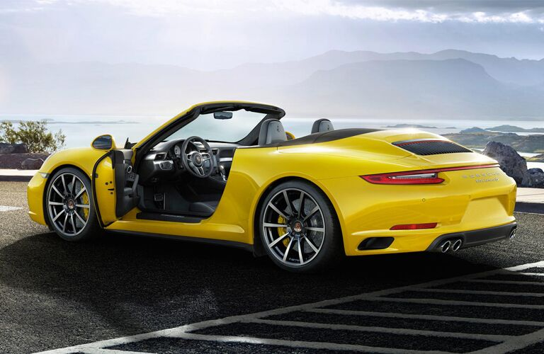 2019 Porsche Carrera Convertible in yellow