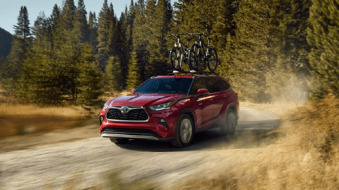 Red 2020 Toyota Highlander