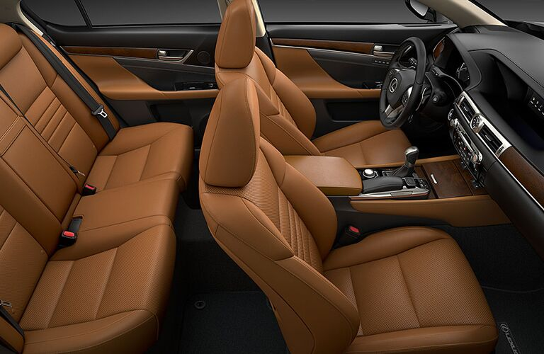Seats inside the 2020 Lexus GS