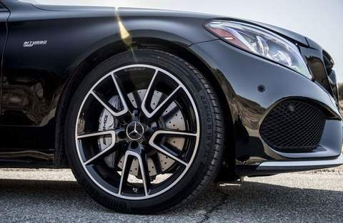 wheel detail on 2018 mercedes-amg c 63